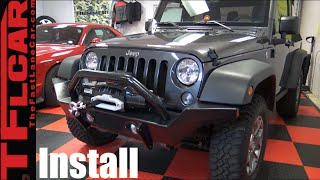 How to Install new Bumpers & Winch on a Jeep Wrangler - DiffLock Ep.13 by The Fast Lane Car