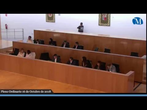 Pleno ordinario de la Diputación del mes de octubre de 2018