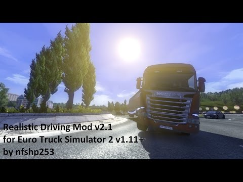 Realistic Driving Mod v2.1 for v1.11+