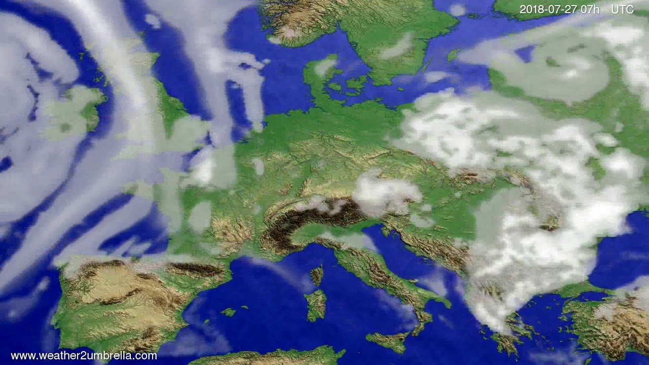 Cloud forecast Europe 2018-07-23