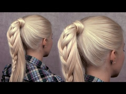 Braided ponytail hairstyle – cute everyday french braid for long hair Spring 2013 trend