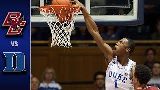 Boston College vs. Duke Men's Basketball Highlights (2016-17)