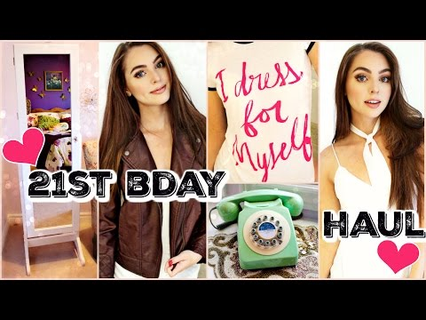 21st Birthday Haul! Fall Clothes, Room Decor, Makeup 2016