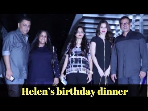 Arpita Khan attends Helen's birthday dinner At Hakkasan Mumbai