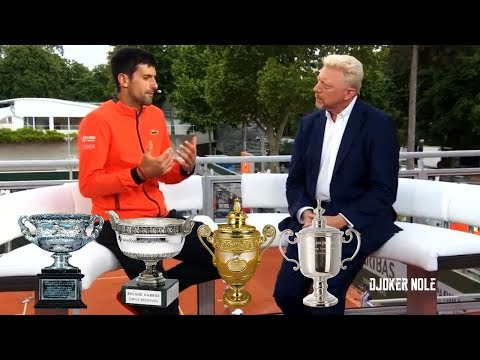 "Novak Djokovic & Boris Becker About ""Nole Slam"" - Roland Garros 2019 (HD)"