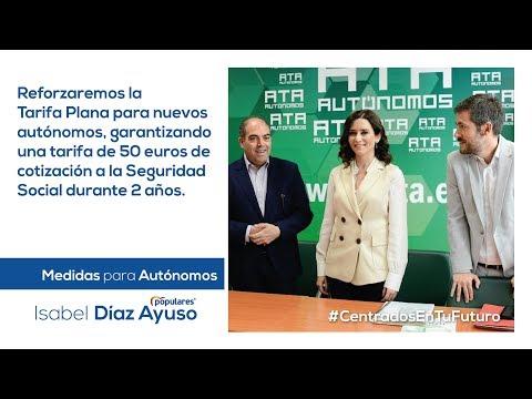 Isabel Díaz Ayuso - Medias para autónomos y emprendedores