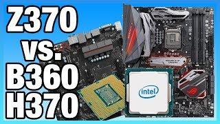 Intel Z370 vs. B360 Differences on i5-8400 & 8700K | Benchmark