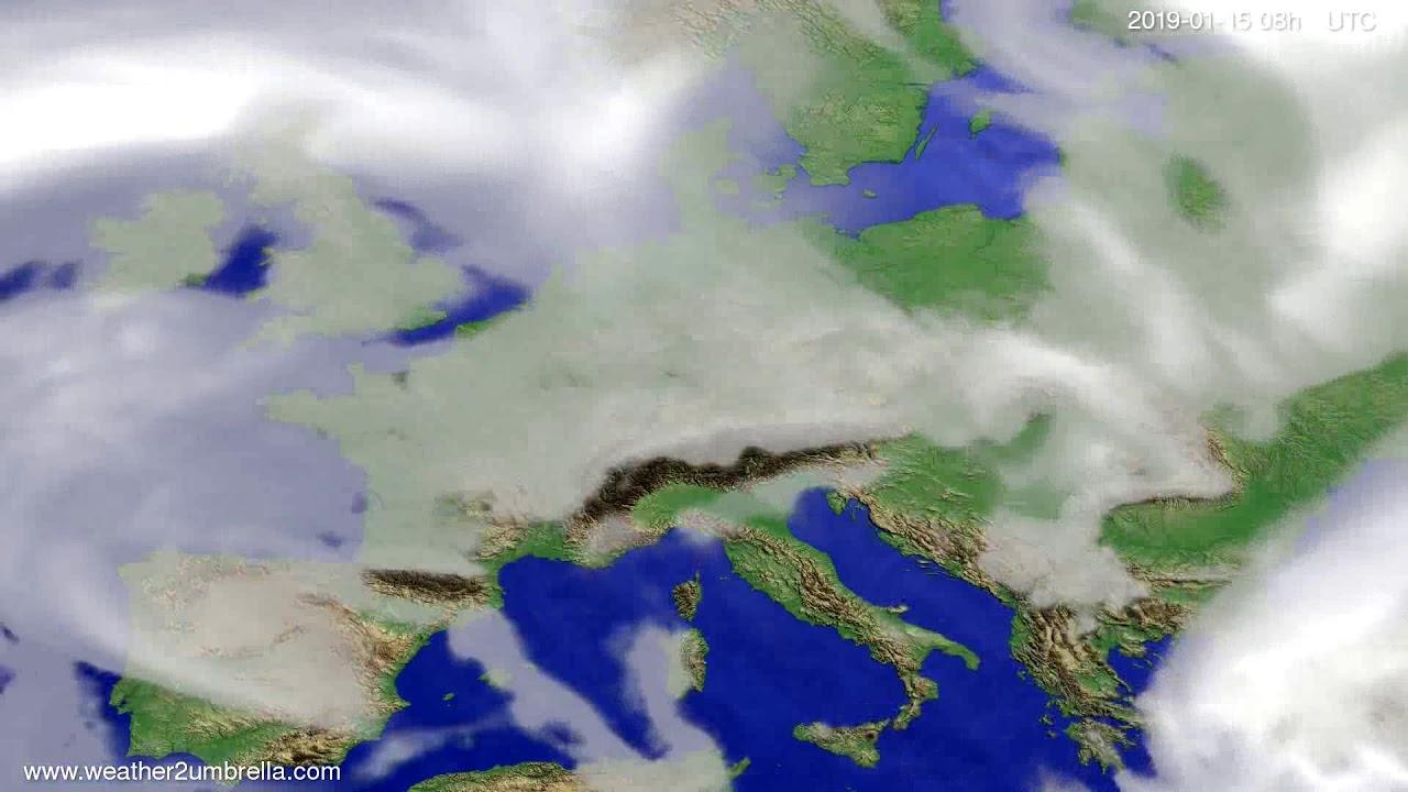 Cloud forecast Europe 2019-01-12
