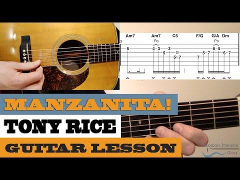 """Manzanita"" | Tony Rice – Intermediate/Advanced Bluegrass Guitar Lesson with TAB"
