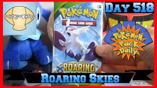 Pokemon Pack Daily Roaring Skies Booster Opening Day 519 - Featuring PokeGrownUps by ThePokeCapital
