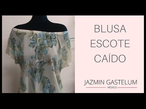 Como Hacer Una Blusa Escote Caido  En 15 Minutos How To Make A Low Neck Blouse