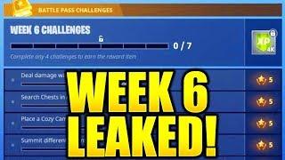 FORTNITE SEASON 5 WEEK 6 CHALLENGES LEAKED! WEEK 6 ALL CHALLENGES EASY GUIDE WEEK 6 CHALLENGES!