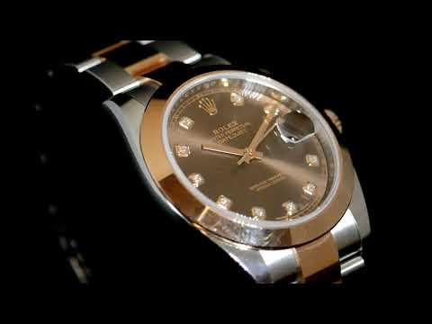 男裝不鏽鋼/18玫瑰金「勞力士」Datejust 41 (日志型)自動腕表