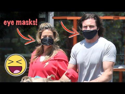 Denise Richards And Hunky Beau Rock Sleep Eye Masks During Global Health Scare