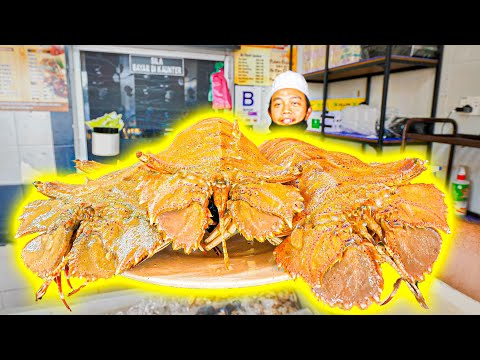 Street Food in Malaysia – GIANT ALIEN Lobster (SPICY!) + Incredible BBQ Street Food ROAD TRIP!!!