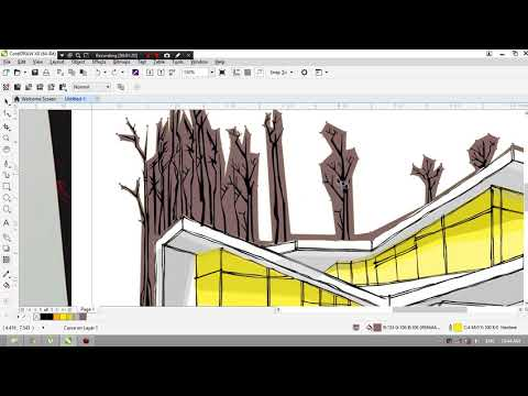 Corel Draw Vec. | Architectural Sketch # 1