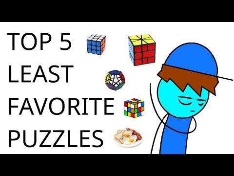 Top 5 LEAST Favorite Puzzles | Cubeorithms