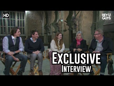 heyuguysblog - David Sztypuljak from HeyUGuys.co.uk chats with Julie Walters, Mark Williams, Oliver Phelps, James Phelps and Bonnie Wright (or the Weasley Family as they're...