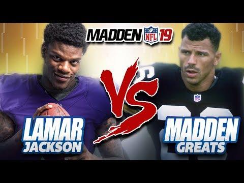 LAMAR JACKSON Vs ALL-MADDEN GREATS! MADDEN NFL 19 OFFICIAL GAMEPLAY!