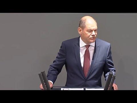 Olaf Scholz zur Einbringung des Haushaltsgesetzes 2 ...