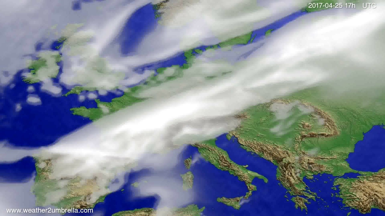 Cloud forecast Europe 2017-04-23