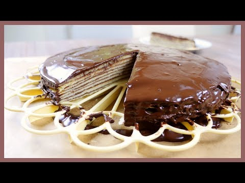 Bavarian Chocolate Layer Cake (Prinzregententorte) German Recipe #28 德國巴伐利亞王子千層蛋糕