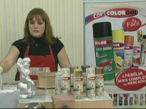 Colorgin no Ateliê na TV - Pintura sobre gesso e MDF