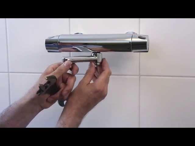 Montering af tude på bruserarmatur DK