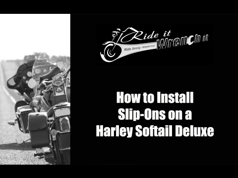 How to Install Slip Ons 2013 Harley Softail Deluxe