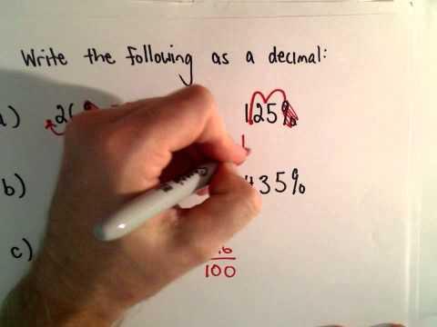 Schreiben eines Prozentsatz als Decimal (5 Beispiele)