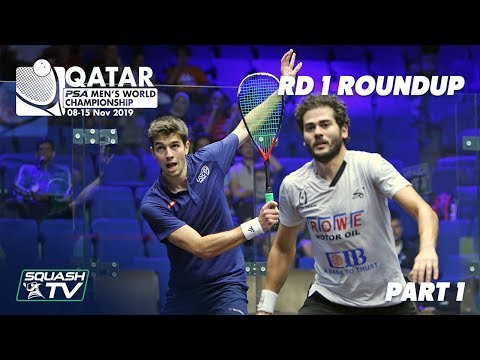 Squash: PSA Men's World Champs 2019/20 - Rd 1 Roundup [Pt. 1]