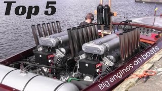 Video TOP 5 Big engines in small Boats [inboard open boat] MP3, 3GP, MP4, WEBM, AVI, FLV Juli 2019