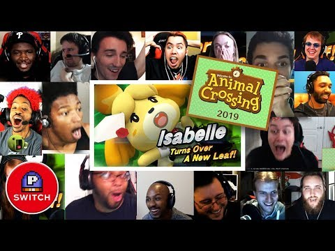 Live Reaction: Isabelle in Smash + Animal Crossing for Nintendo Switch | Synched Compilation (видео)