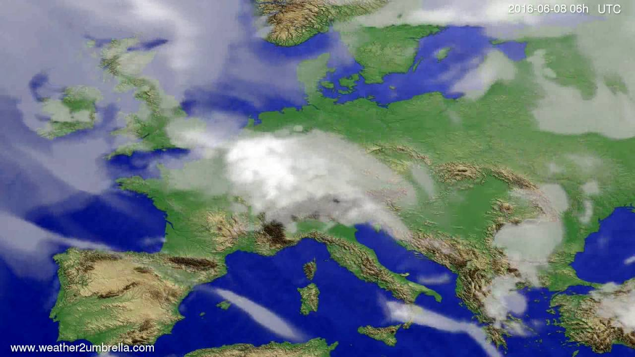 Cloud forecast Europe 2016-06-05