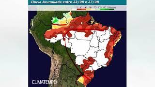 O ar seco volta a ganhar força sobre grande parte do Brasil diminuindo a chuva e a umidade nos próximos dias. Os maiores volumes de chuva serão observados apenas nas extremidades do país. Confira no mapa de chuva!
