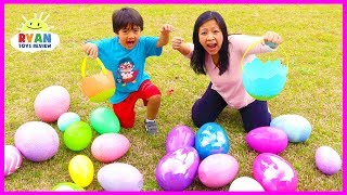 Video Huge Easter Egg Hunt Surprise Toys for kids outdoor fun with Ryan ToysReview MP3, 3GP, MP4, WEBM, AVI, FLV Januari 2019