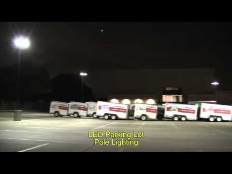 LED Parking Lot Pole Lighting Example