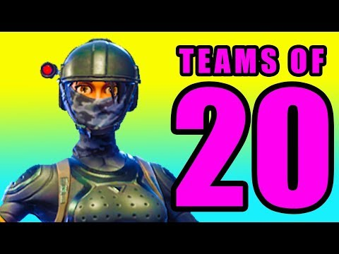 CRAZIEST FIGHT EVER! 🔵 Fortnite Battle Royale NEW 20v20 Mode Gameplay