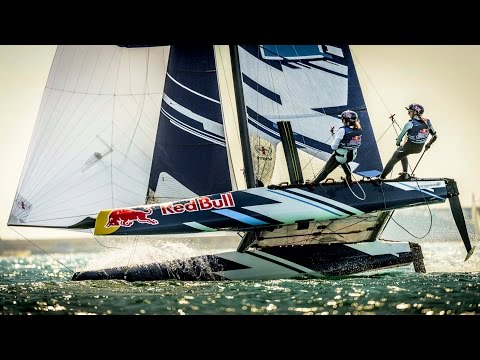 Red Bull Foiling Generation Sailing the Flying Phantom Catamaran