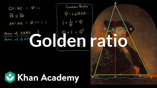 Golden ratio and Rembrandt's self portrait