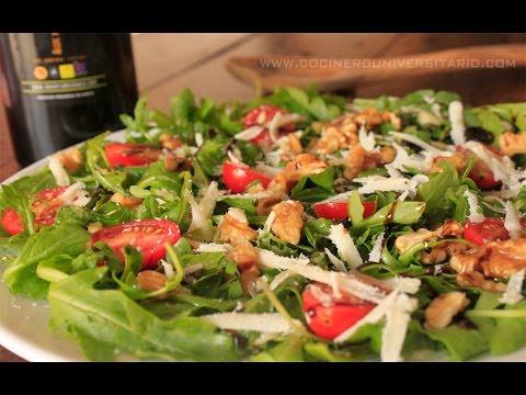 Ensalada de Rúcula y Queso Parmesano