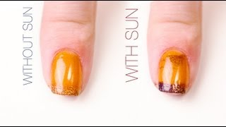 Halloween Color-Changing Nail Art Design
