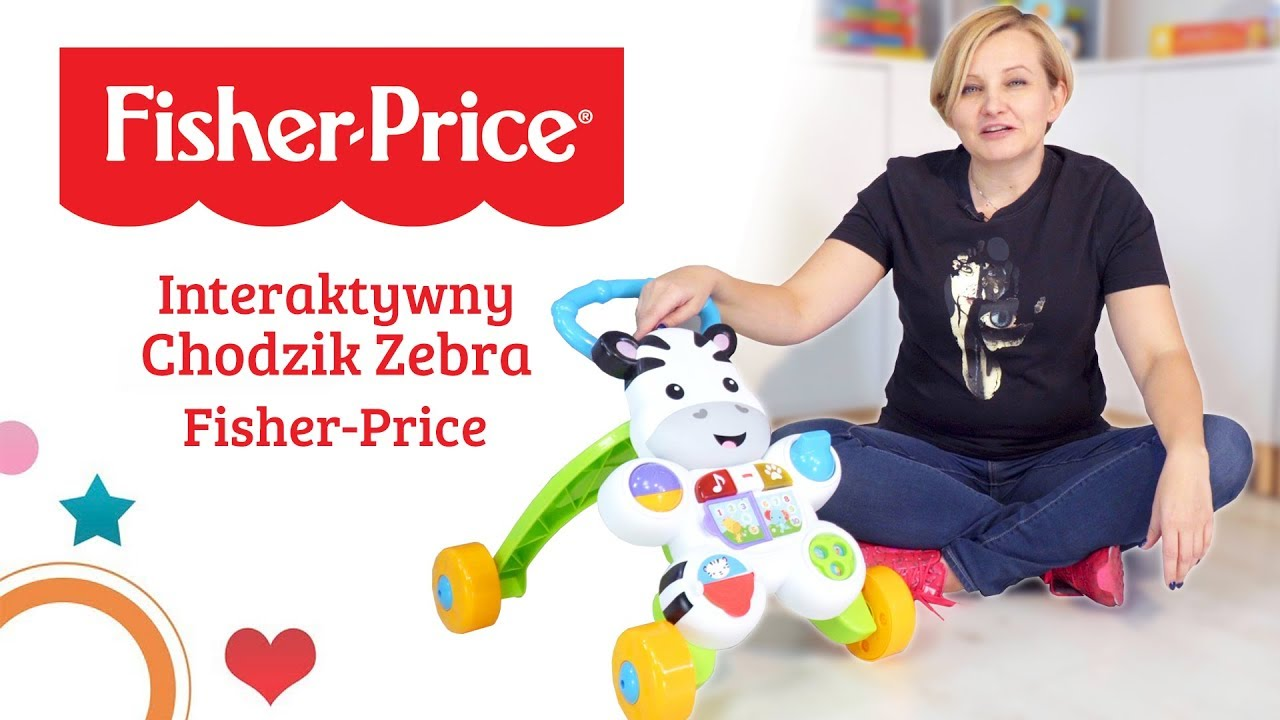 Interaktywny Chodzik Zebra, Fisher Price