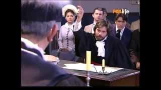 Começa a audiência de Lúcia e Lemos. Fernando chega com Firmina na audiência. Leocádia conta a Duarte, Júlia, e Geraldo sobre a maldita folha negra de que Mila falava.