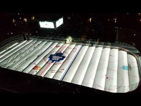 Проекция на льду перед хоккейным матчем