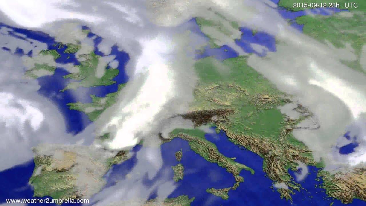 Cloud forecast Europe 2015-09-09