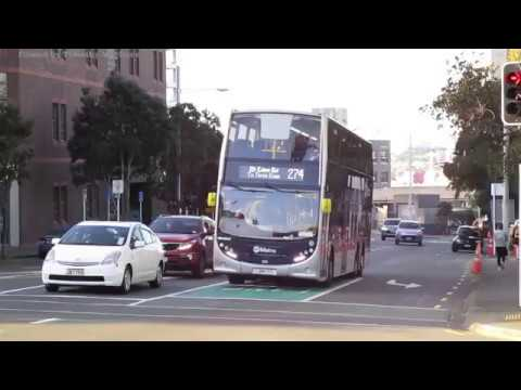 Buses in Auckland, New Zealand 2017