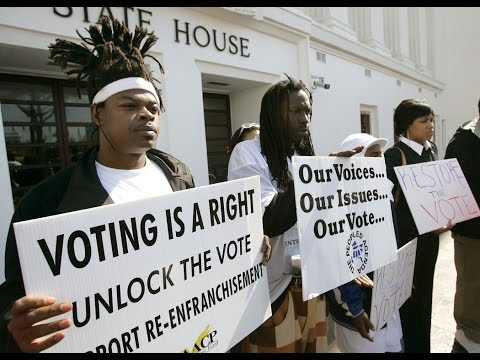 felon disenfranchisement essay Anderson, frank (2010) personal essay: my ordeal of regaining voting rights  in virginia, the  to address the felony disenfranchisement issue on several.