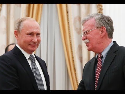 LIVE | US National Security Advisor Bolton reacts to Russian President Putin meeting