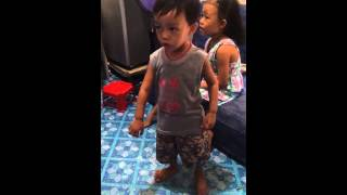 2years old kid love to dance.